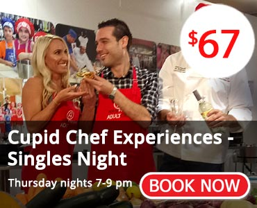 Cupid Chef Adult Singles Cooking Experience - Book Now