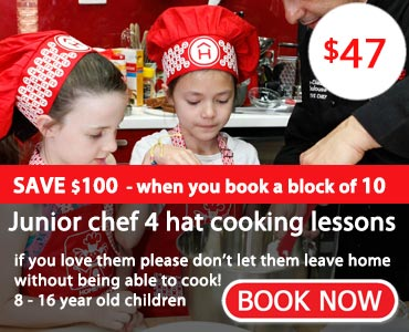 kids cooking lessons - book now