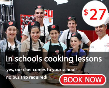 In Schools cooking lessons - BOOK NOW